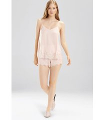 fairytale lace trim cami pajamas, women's, pink, size xs, josie