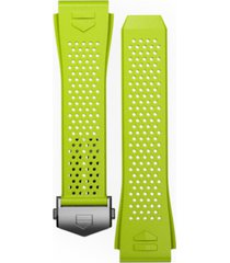 tag heuer men's connected lime green rubber smart watch strap