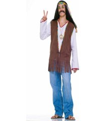 buy seasons men's faux suede hippie vest costume