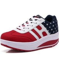 damas zapatillas de deporte de mujer zapatos plataforma zapatillas de cuñ