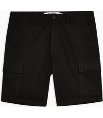 mens black woven utility cargo shorts