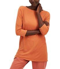 alfani 3/4-sleeve boat-neck tunic, created for macy's