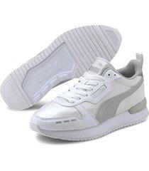 tenis blanco puma r78 metallic 374739-02