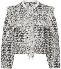 ashley tassel jacket blazers bouclé blazers grå allsaints