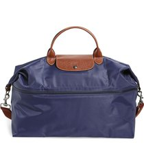 longchamp le pliage 21-inch expandable travel bag - blue