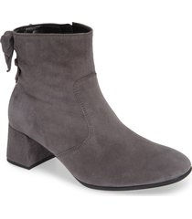 women's gabor bow back bootie, size 6 m - grey