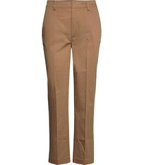'abott' regular fit chino in mercerized organic cotton chino broek beige scotch & soda