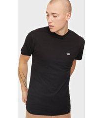 vans left chest logo tee t-shirts & linnen black/white
