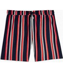 mens white navy stripe jersey shorts
