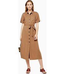 camel shirt dress - camel