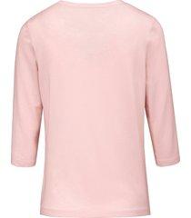 shirt met ronde hals van peter hahn lichtroze