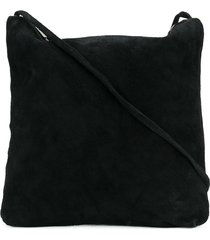 guidi square zipped shoulder bag - black