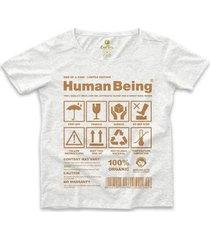 camiseta ampla cool tees seres humanos feminina - feminino
