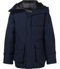 canada goose short padded coat - blue