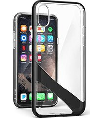 iphone x clear case w/ screen protector, encased [reveal series] slim fit transp
