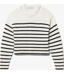 proenza schouler white label bouclé stripe sweater offwhite/black l