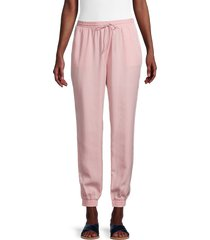 beach lunch lounge women's dixie drawstring joggers - dusty rose - size l