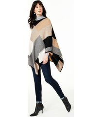 charter club colorblock cashmere poncho, created for macy's