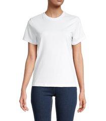 helmut lang women's cotton solid t-shirt - vapor heather - size m