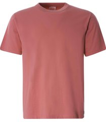 armor lux organic cotton heritage t-shirt | rosewood pink | 78990-gtb