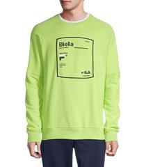fila men's graphic cotton-blend sweatshirt - sharp green - size xl