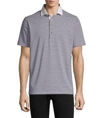 greyson men's choctaw striped polo shirt - dolphin - size xxl