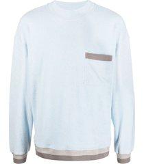 anglozine pocket-detail sweatshirt - blue