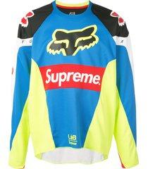 supreme fox racing moto jersey top ss18 - multicolour