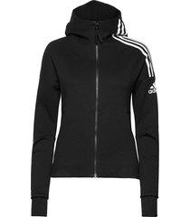 w zne hd hoodie trui zwart adidas performance