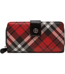 giani bernini saffiano plaid all in one wallet, created for macy's