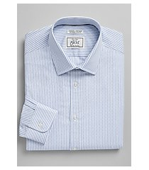 1905 collection extreme slim fit spread micro diamond stripe dress shirt - big & tall clearance, by jos. a. bank