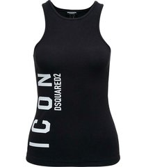 tank top with icon print