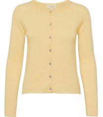 wool & cashmere cardigan ls gebreide trui cardigan geel rosemunde