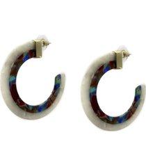 argollas resina bicolor musa accesorios