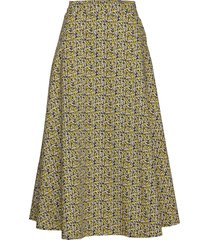 dove maxi skirt knälång kjol grön just female