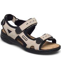 64582-60 shoes summer shoes flat sandals beige rieker