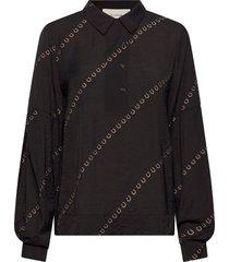 lirum blouse lange mouwen zwart munthe