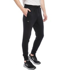 pantalón de buzo under armour rival fleece jogger negro - calce regular