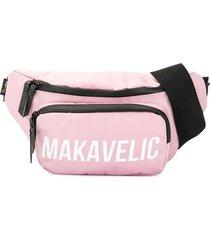 makavelic crescent waist bag - pink