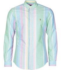 overhemd lange mouw polo ralph lauren chemise cintree slim fit en oxford col boutonne logo pony player