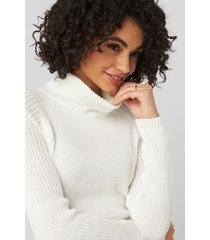 trendyol basic turtleneck knitted sweater - white