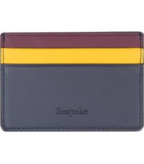 bespoke men's colorblocked nappa leather card case