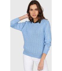 sweater celeste mecano classic