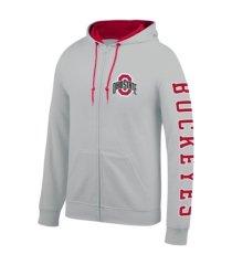 top of the world ohio state buckeyes men's foundation full zip hooded sweatshirt