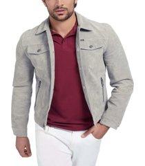 guess men's suede trucker jacket