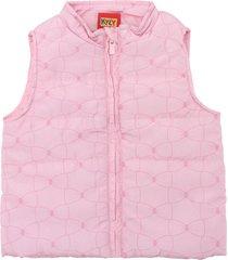 colete kyly menina lisa rosa - rosa - menina - poliã©ster - dafiti
