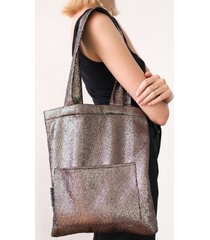 torba mini w srebrną łuskę