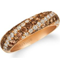 chocolate diamonds (1/15 ct. t. w.) ring in 14k rose gold