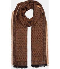 pañuelo jacquard en 100% algodón marrón oscuro esprit