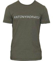 antony morato t-shirt groen ronde hals